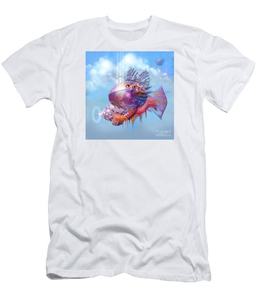 Cosmic Fish Spaceship Men's T-Shirt (Athletic Fit)