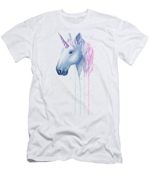 Cotton Candy Unicorn Men's T-Shirt (Athletic Fit)