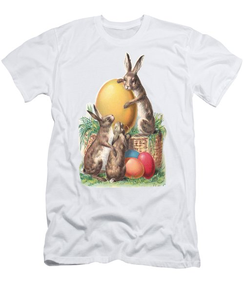 Cottontails And Eggs Men's T-Shirt (Athletic Fit)