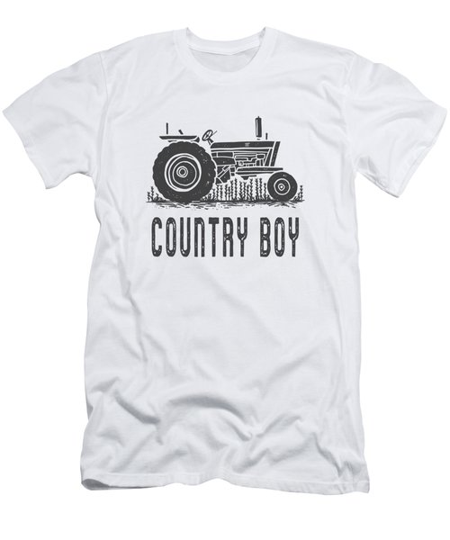 Country Boy Tractor Tee Men's T-Shirt (Athletic Fit)