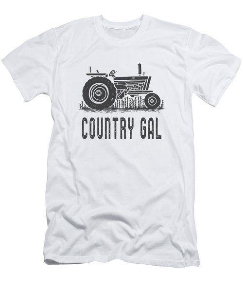 Country Gal Tractor Tee Men's T-Shirt (Athletic Fit)