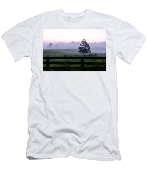 Country Morning Fog Men's T-Shirt (Athletic Fit)