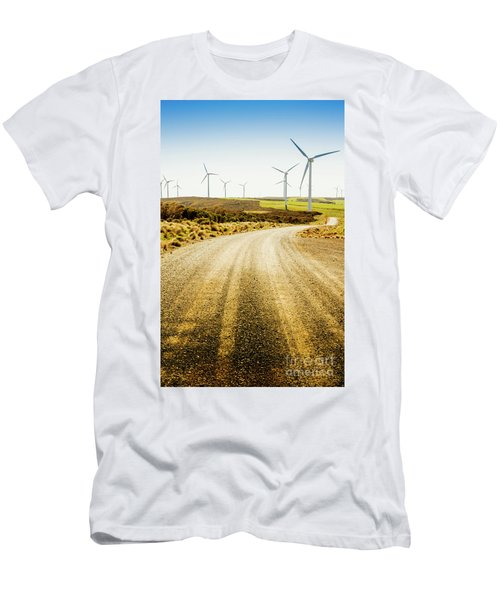 Country Roads And Scenic Windfarms Men's T-Shirt (Athletic Fit)