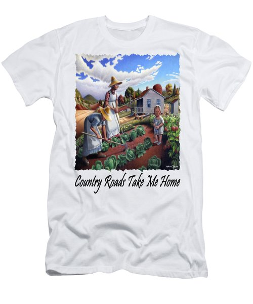 Country Roads Take Me Home - Appalachian Family Garden Country Farm Landscape 2 Men's T-Shirt (Athletic Fit)