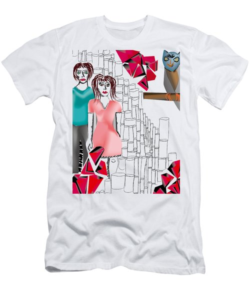 Couple Observed Men's T-Shirt (Athletic Fit)