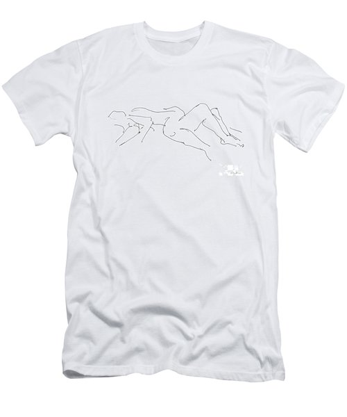 Couples Erotic Art 4 Men's T-Shirt (Athletic Fit)