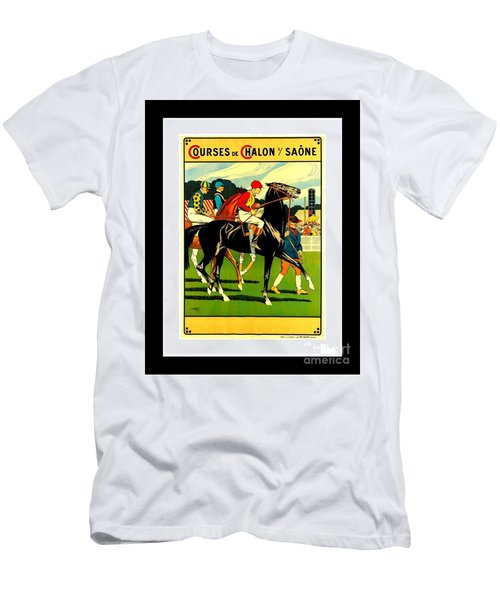 Courses De Chalon French Horse Racing 1911 II Leon Gambey Men's T-Shirt (Athletic Fit)