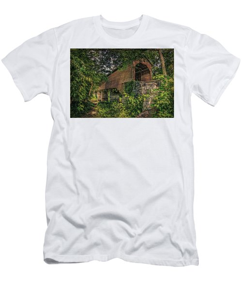 Men's T-Shirt (Athletic Fit) featuring the photograph Covered Bridge by Lewis Mann