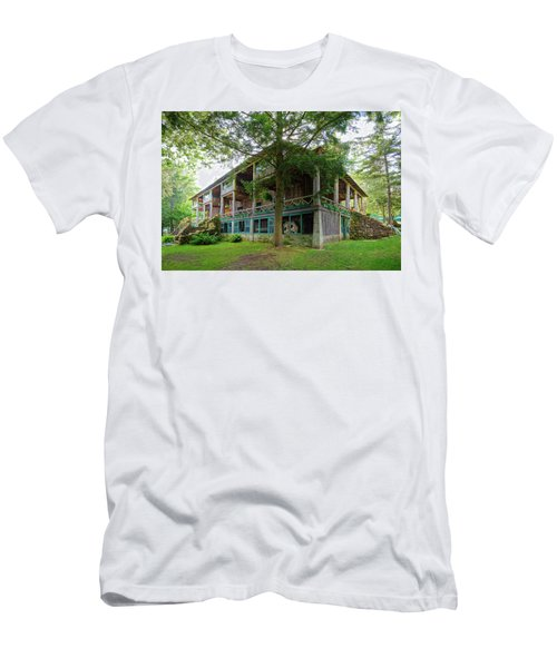 Men's T-Shirt (Athletic Fit) featuring the photograph Covewood Lodge On Big Moose Lake by David Patterson