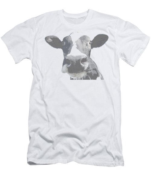Cow - Cross Hatching Men's T-Shirt (Athletic Fit)