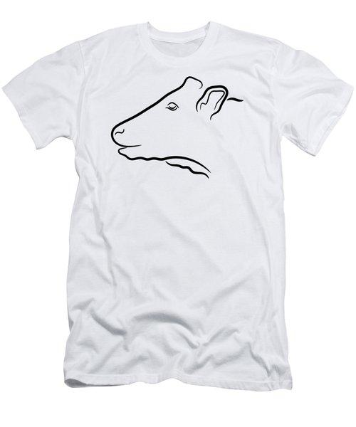 Cow Head Illustration Men's T-Shirt (Athletic Fit)