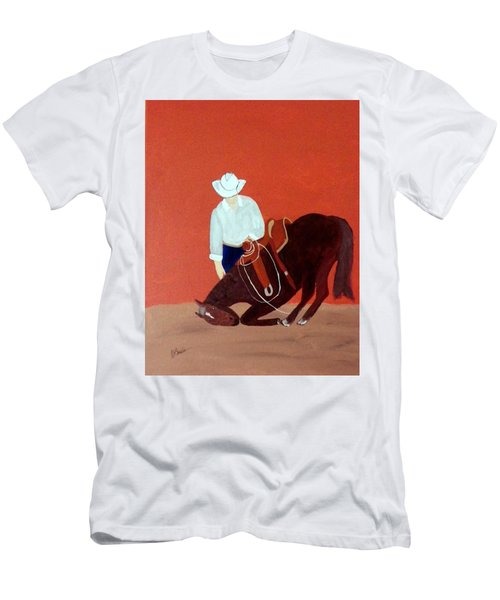 Cowboy And His Horse Men's T-Shirt (Athletic Fit)