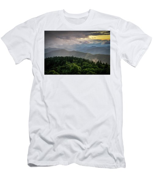 Cowee Mountain Sunset Men's T-Shirt (Athletic Fit)