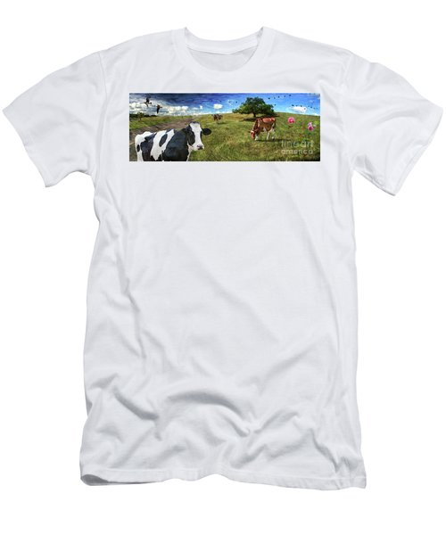 Cows In Field, Ver 3 Men's T-Shirt (Athletic Fit)