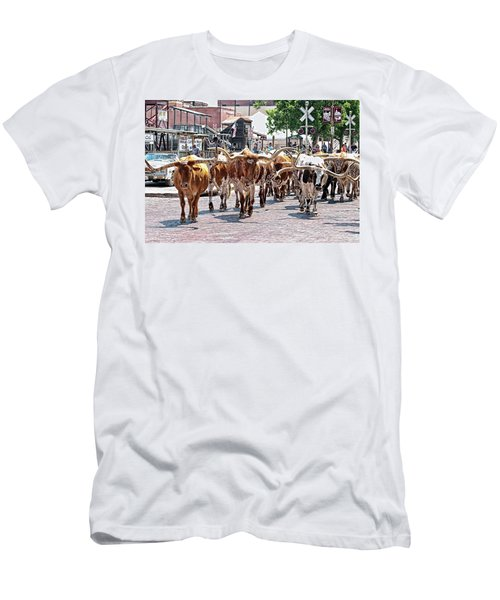 Cowtown Stockyards Men's T-Shirt (Athletic Fit)