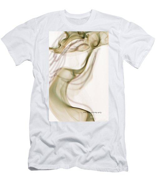 Men's T-Shirt (Slim Fit) featuring the photograph Coy Lady In Hat Swirls by Vicki Ferrari