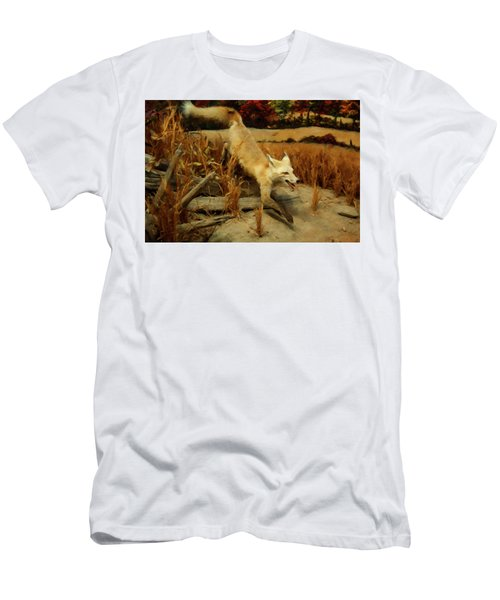 Men's T-Shirt (Slim Fit) featuring the digital art Coyote  by Chris Flees