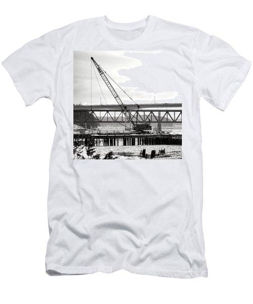 Crane In Winter Men's T-Shirt (Athletic Fit)