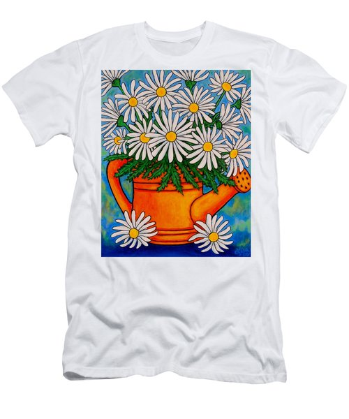 Crazy For Daisies Men's T-Shirt (Athletic Fit)