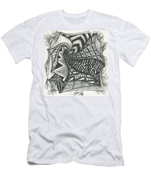 Crazy Spiral Men's T-Shirt (Slim Fit) by Jan Steinle