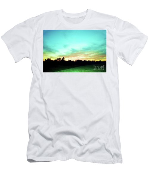 Creator's Sky Painting Men's T-Shirt (Slim Fit) by Polly Peacock