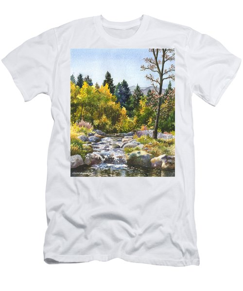Men's T-Shirt (Slim Fit) featuring the painting Creek At Caribou by Anne Gifford