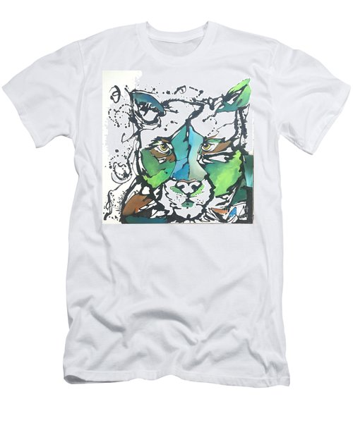 Men's T-Shirt (Slim Fit) featuring the painting Creep by Nicole Gaitan