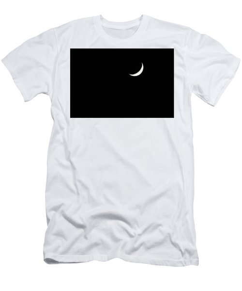 Men's T-Shirt (Athletic Fit) featuring the photograph Crescent Moon  by Alison Frank