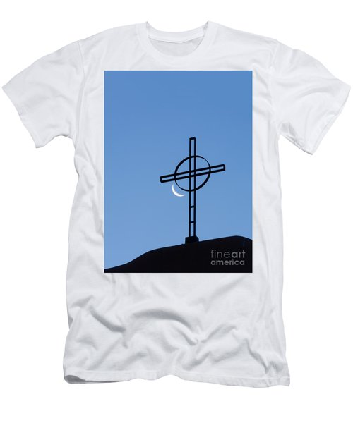Crescent Moon And Cross Men's T-Shirt (Athletic Fit)