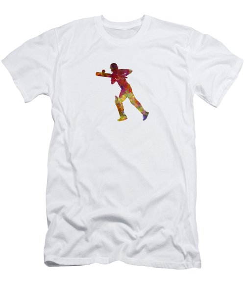Cricket Player Batsman Silhouette 06 Men's T-Shirt (Athletic Fit)