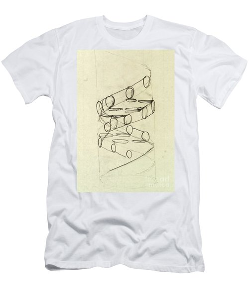 Cricks Original Dna Sketch Men's T-Shirt (Athletic Fit)