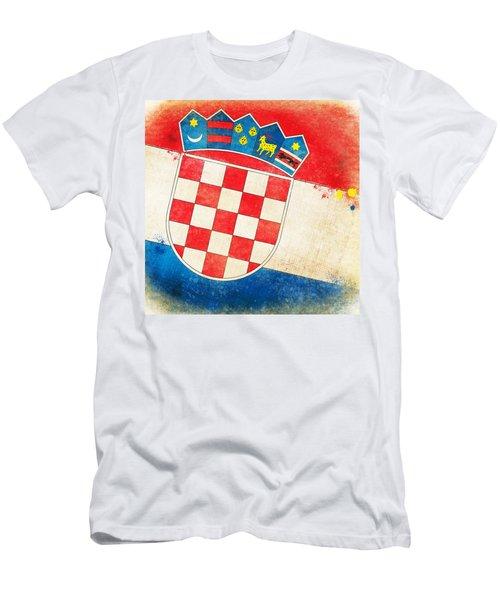 Croatia Flag Men's T-Shirt (Athletic Fit)