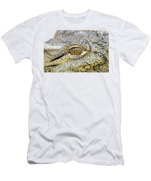 Crocodile Eye Men's T-Shirt (Slim Fit) by George Atsametakis