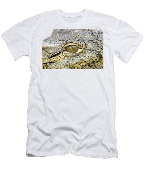 Crocodile Eye Men's T-Shirt (Athletic Fit)