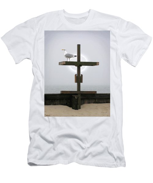 Cross At West Dennis Beach Men's T-Shirt (Athletic Fit)