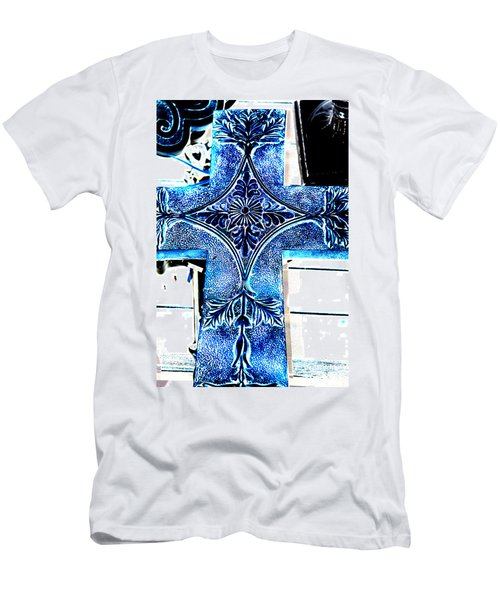 Cross In Blue Men's T-Shirt (Athletic Fit)