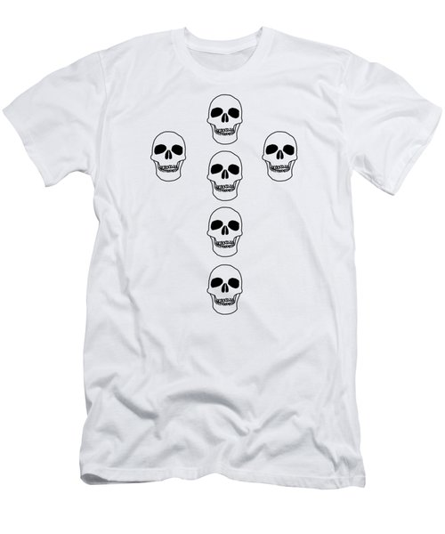 Cross In Skulls Clothing And Decor Men's T-Shirt (Slim Fit) by Linsey Williams