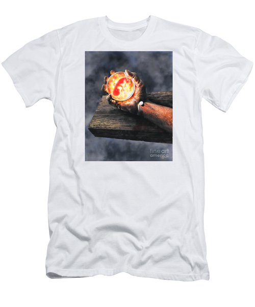 Men's T-Shirt (Slim Fit) featuring the painting Crucifixion Version One Glen Concept by Dave Luebbert