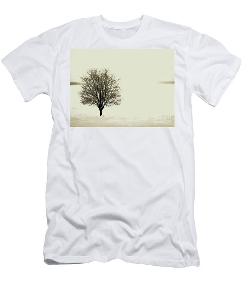 Crystal Lake In Winter Men's T-Shirt (Athletic Fit)