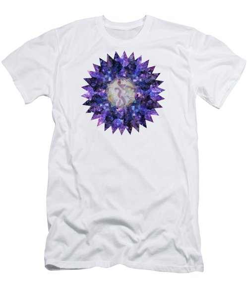 Crystal Magic Mandala Men's T-Shirt (Slim Fit) by Leanne Seymour