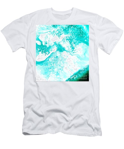 Crystal Wave3 Men's T-Shirt (Athletic Fit)