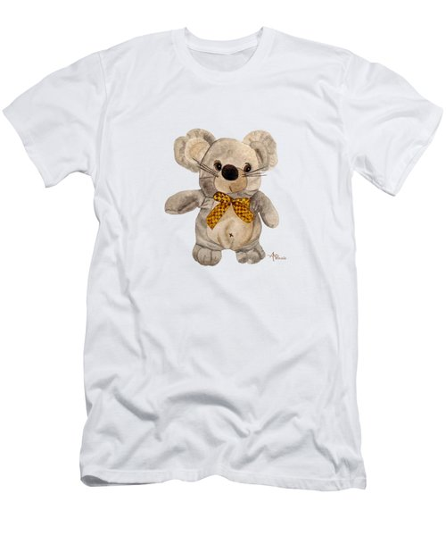 Men's T-Shirt (Athletic Fit) featuring the painting Cuddly Mouse by Angeles M Pomata