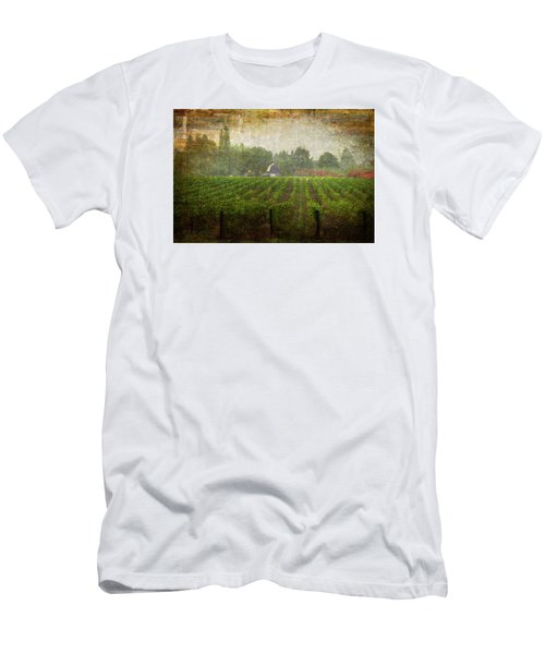 Cultivating A Chardonnay Men's T-Shirt (Slim Fit) by Jeffrey Jensen