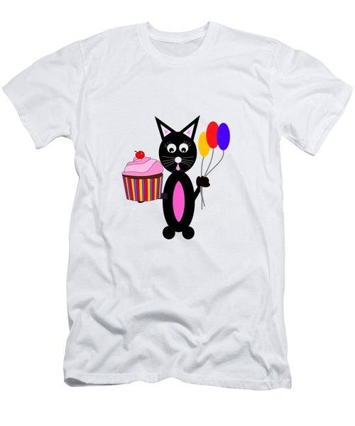 Cup Cake Party Men's T-Shirt (Slim Fit) by Kathleen Sartoris