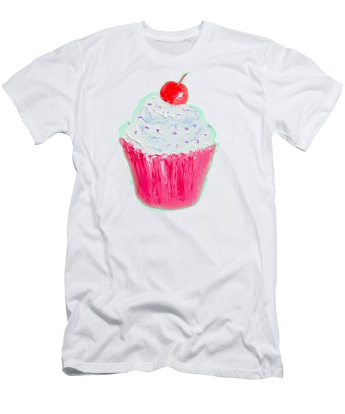 Cupcake Painting Men's T-Shirt (Athletic Fit)