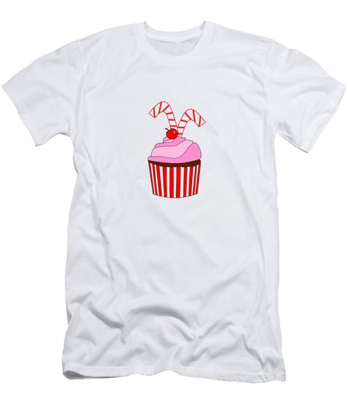 Cupcakes And Candy Canes - Christmas Men's T-Shirt (Athletic Fit)