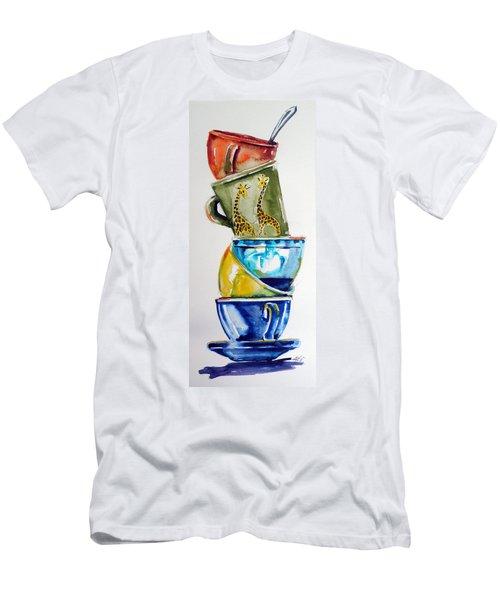 Cups Men's T-Shirt (Slim Fit) by Kovacs Anna Brigitta