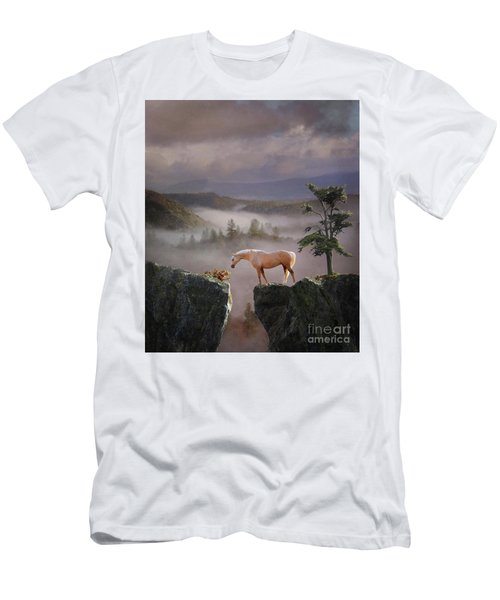 Men's T-Shirt (Athletic Fit) featuring the photograph Curiosity by Melinda Hughes-Berland