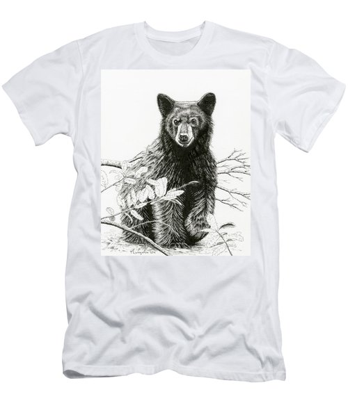 Curious Young Bear Men's T-Shirt (Athletic Fit)