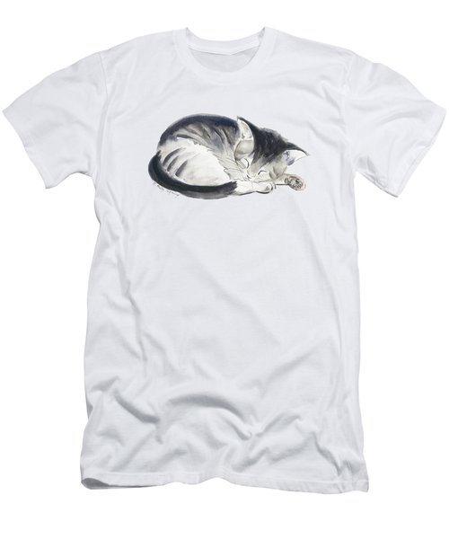 Curl Up Men's T-Shirt (Slim Fit) by Melly Terpening